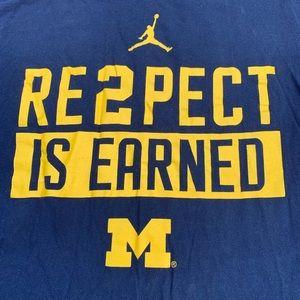 Nike Shirts - University of Michigan nike shirt maize and blue
